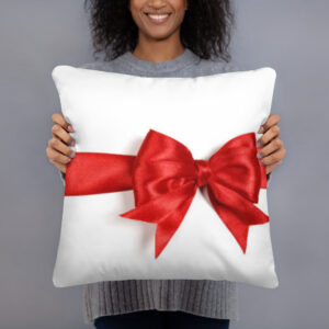 Christmas Bow Throw Pillow
